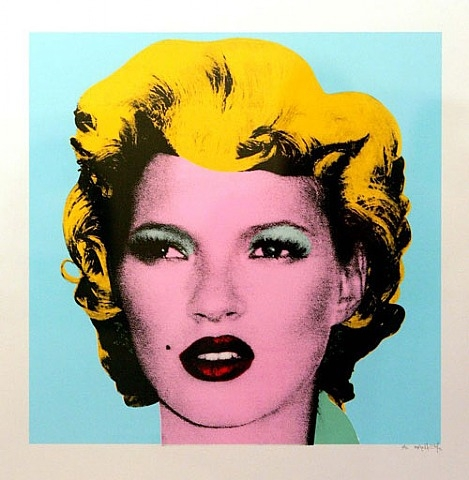 banksy kate moss andy warholl